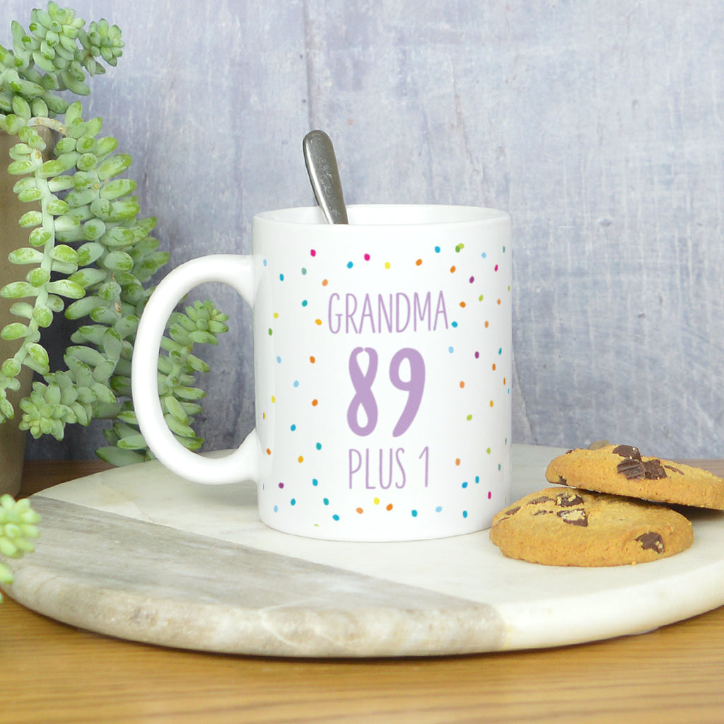Personalised 90th birthday mug