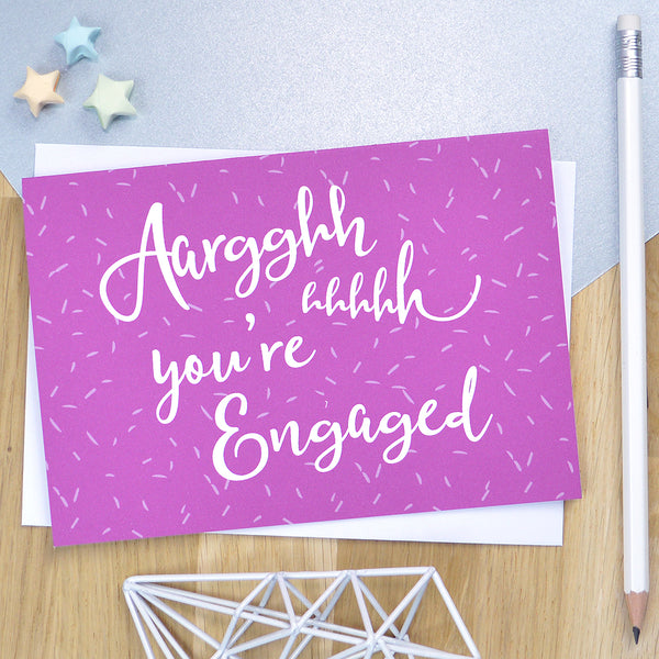 Same sex engagement card - 'AHHHHHHH You're engaged!'
