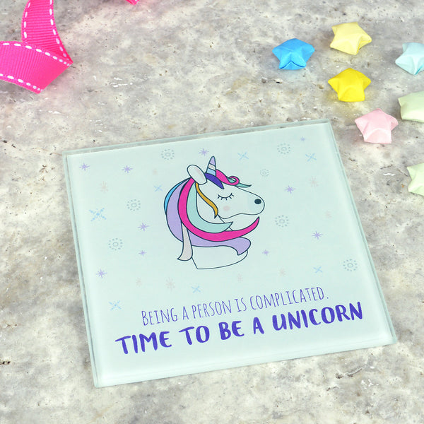 Unicorn coaster, funny unicorn coaster, unicorn gift, unicorn