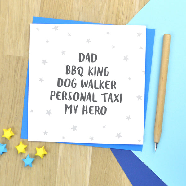 Personalised husband, Dad or Grandad birthday card