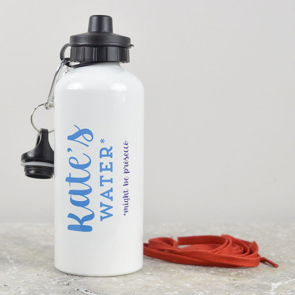 Personalised  'might be prosecco' water bottle - white