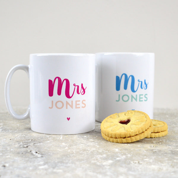 mrs and mrs gift, lesbian gifts, same sex wedding gift, mrs and mrs mugs