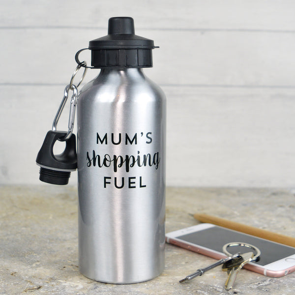 Personalised 'shopping fuel' water bottle