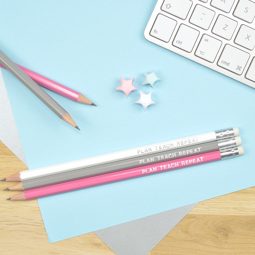 Teacher slogan pencils