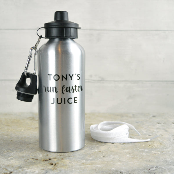 Personalised 'run faster' water bottle