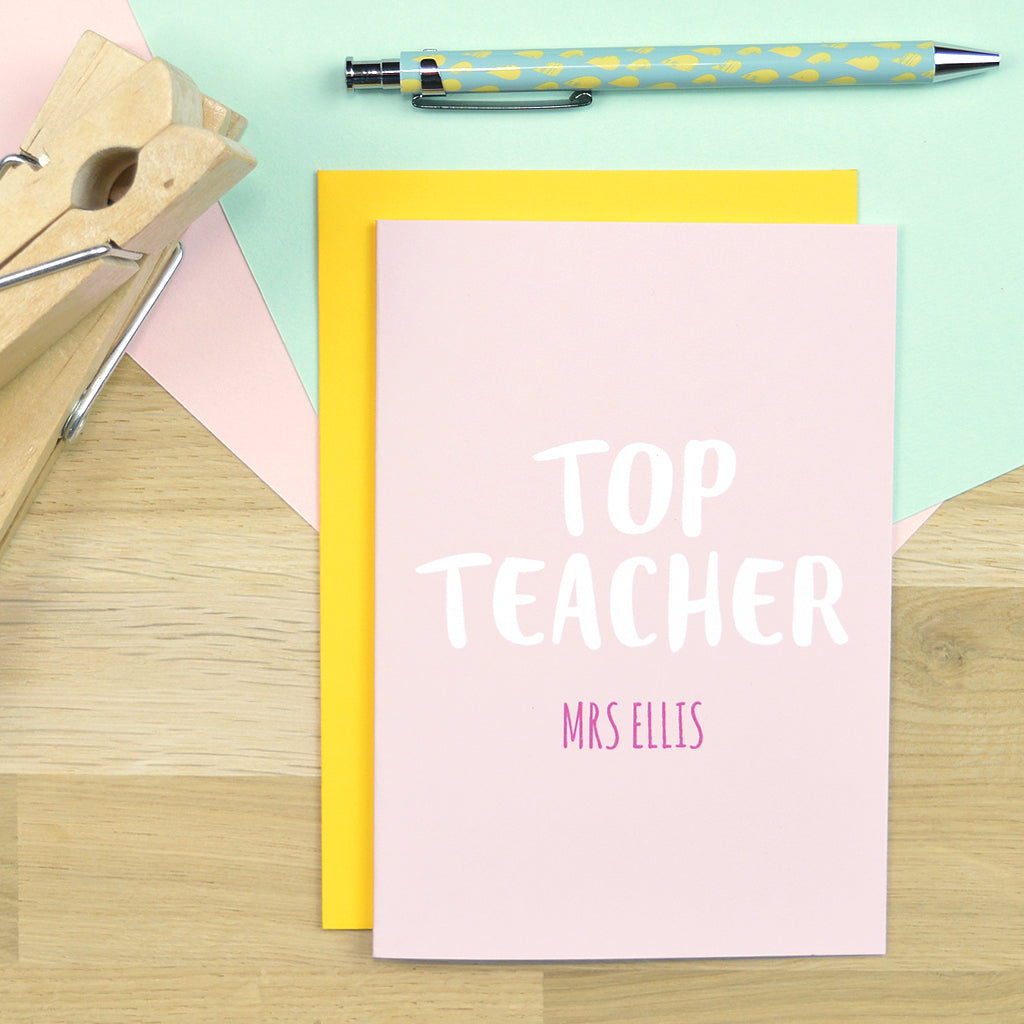 Top teacher card
