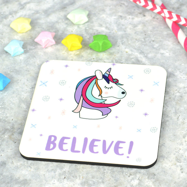 Unicorn coaster, MDF unicorn coaster, unicorn gift