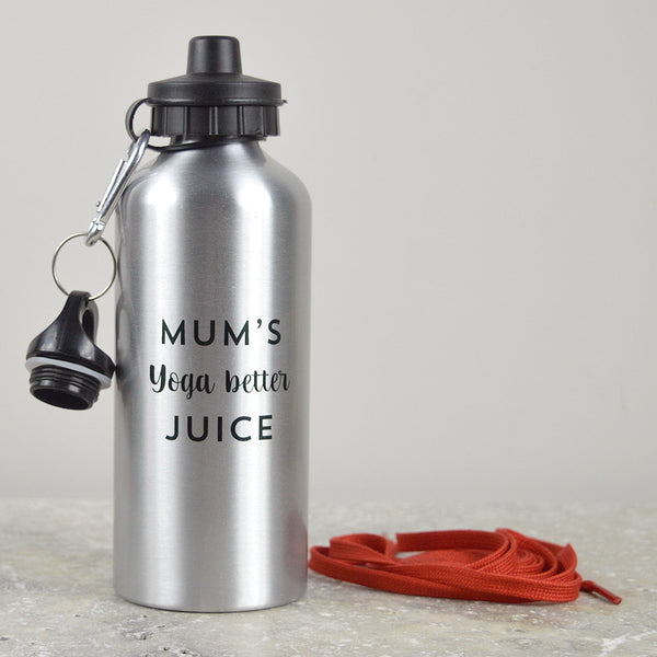 Personalised 'yoga better' water bottle