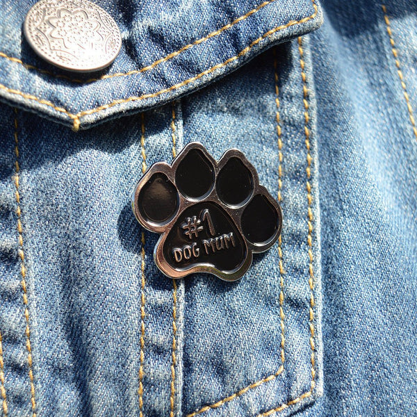 Dog Mum enamel pin badge, dog pin badge, number one dog mum, dog mum gift