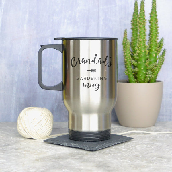 Gardening travel mug, personalised gardening mug, thermal mug for gardener, allotment gift
