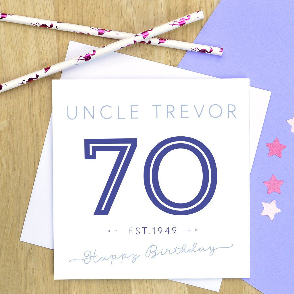 70th birthday card - milestone birthday, personalised 70th birthday card, 70th birthday, 70th - various colours