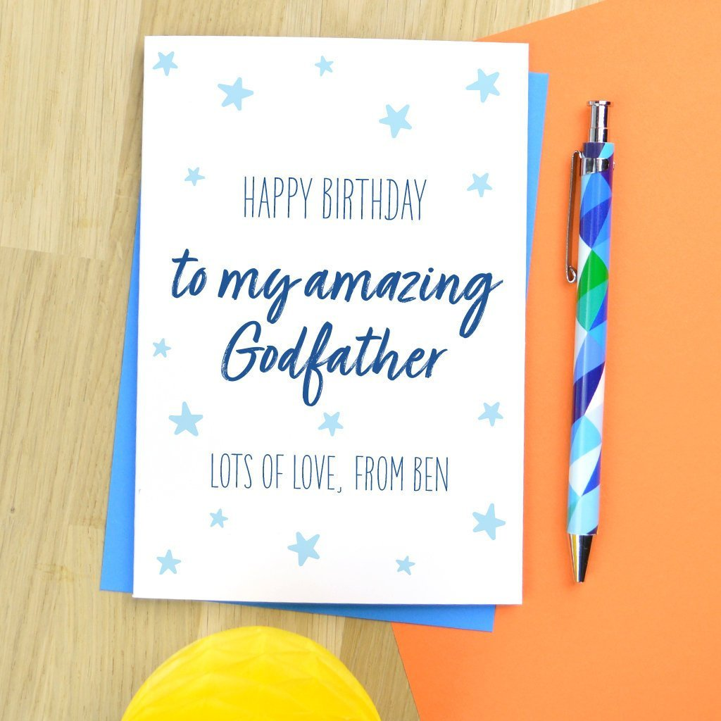 Godfather Birthday Card Personalised For