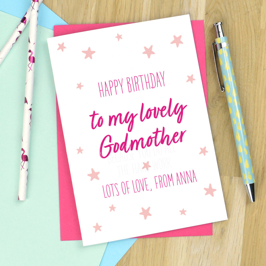 Godmother Birthday Card Personalised For