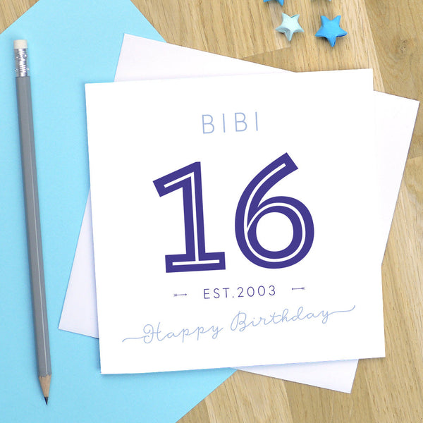 16th birthday card - milestone birthday card, 16th birthday card, 16th birthday, 16th card