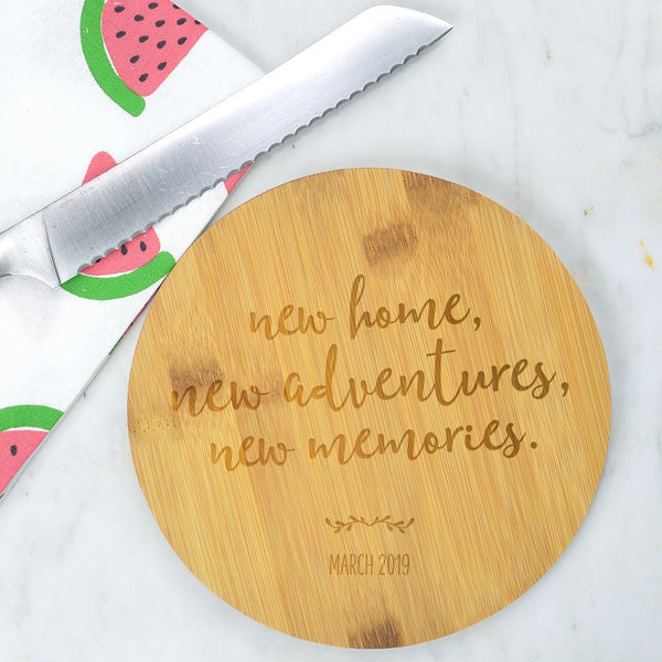 New home bamboo chopping board, new home gift, housewarming