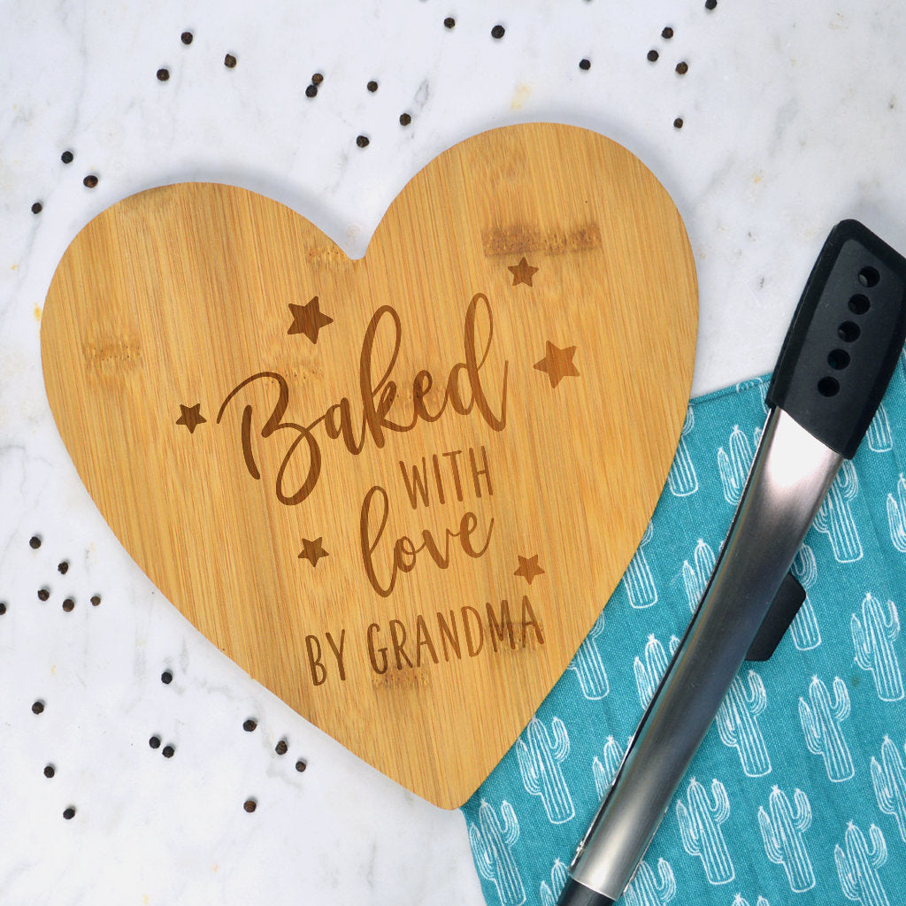 Baked with love serving board, Mothers day gift for Granny or Mummy, baking gift