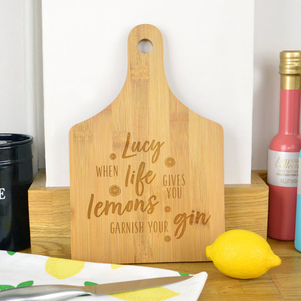 Funny gin chopping board, when life gives you lemons, gin gift for gin lover