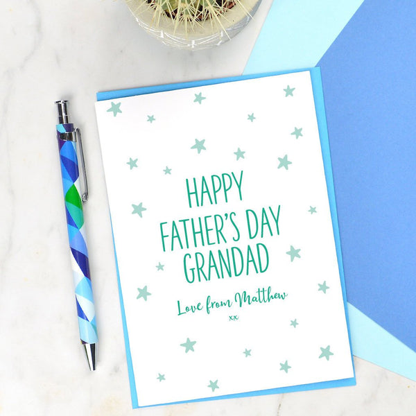 Grandad Fathers day card, personalised card for Grandad