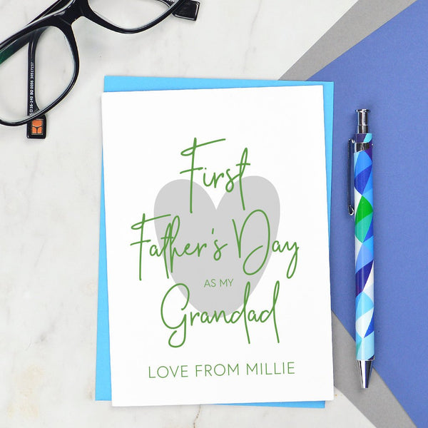 First Fathers Day card for Grandad - various wording