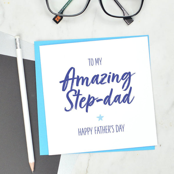 Amazing Step Dad Fathers Day card
