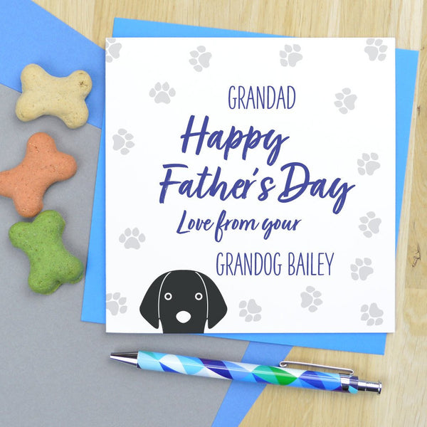Grandog Fathers day card, dog Grandad Father's day card, from the dog Fathers day card, dog Fathers day card