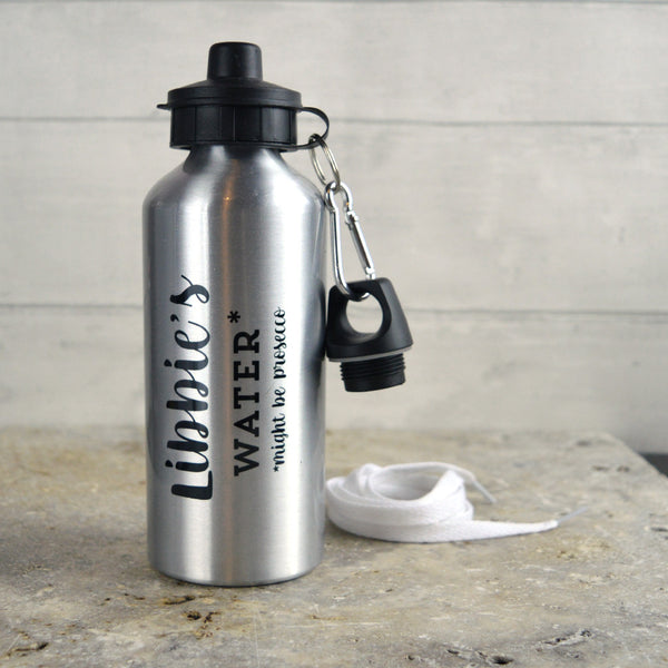 water bottle, personalised water bottle, prosecco gift, gin gift