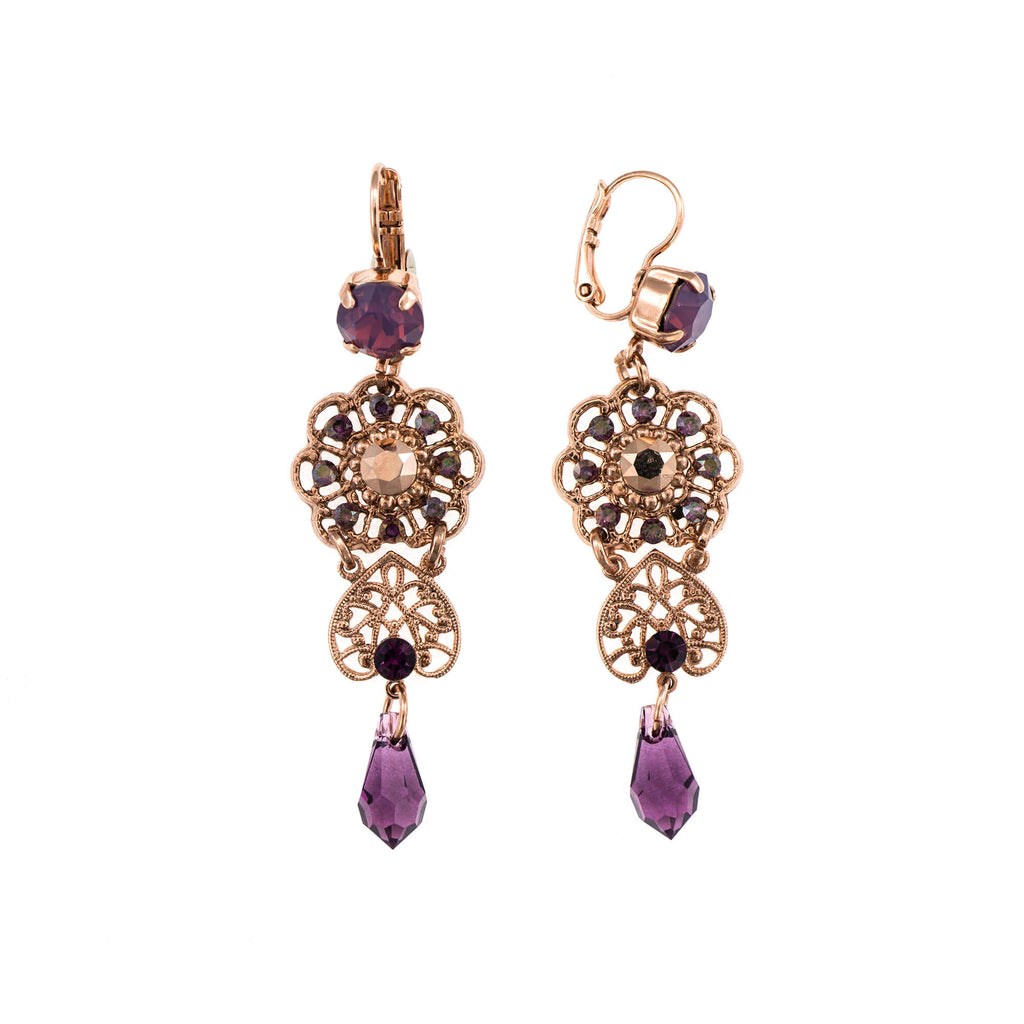 Mariana Rose Gold Plated Earrings | Roxanne's Jewellery | 1072RG6