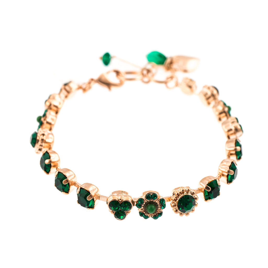 Emerald Collection Rose Gold Plated Bracelet-4028-205205RG