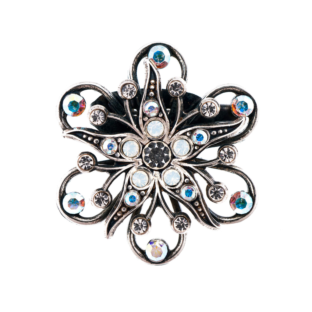 Mariana Silver Plated Brooch | Roxanne's Jewellery | 001SP