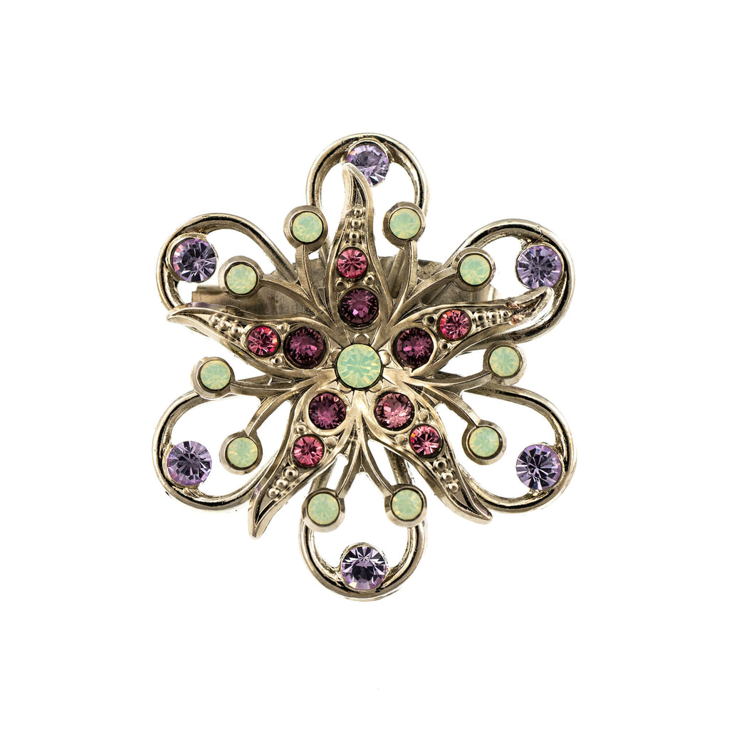 Mariana Rhodium Plated Brooch | Roxanne's Jewellery | 1910RO