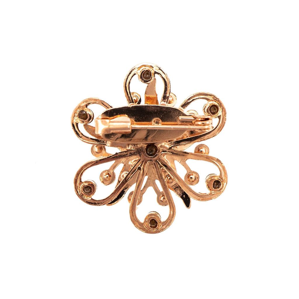 Spring Flowers Collection Rose Gold Plated Brooch-2016-2141RG
