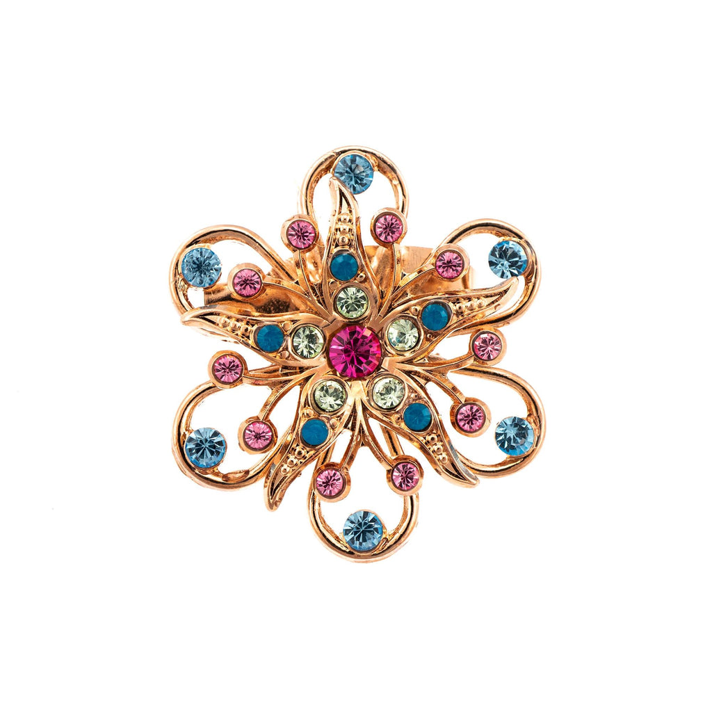 Mariana Rose Gold Plated Brooch | Roxanne's Jewellery | 2141RG