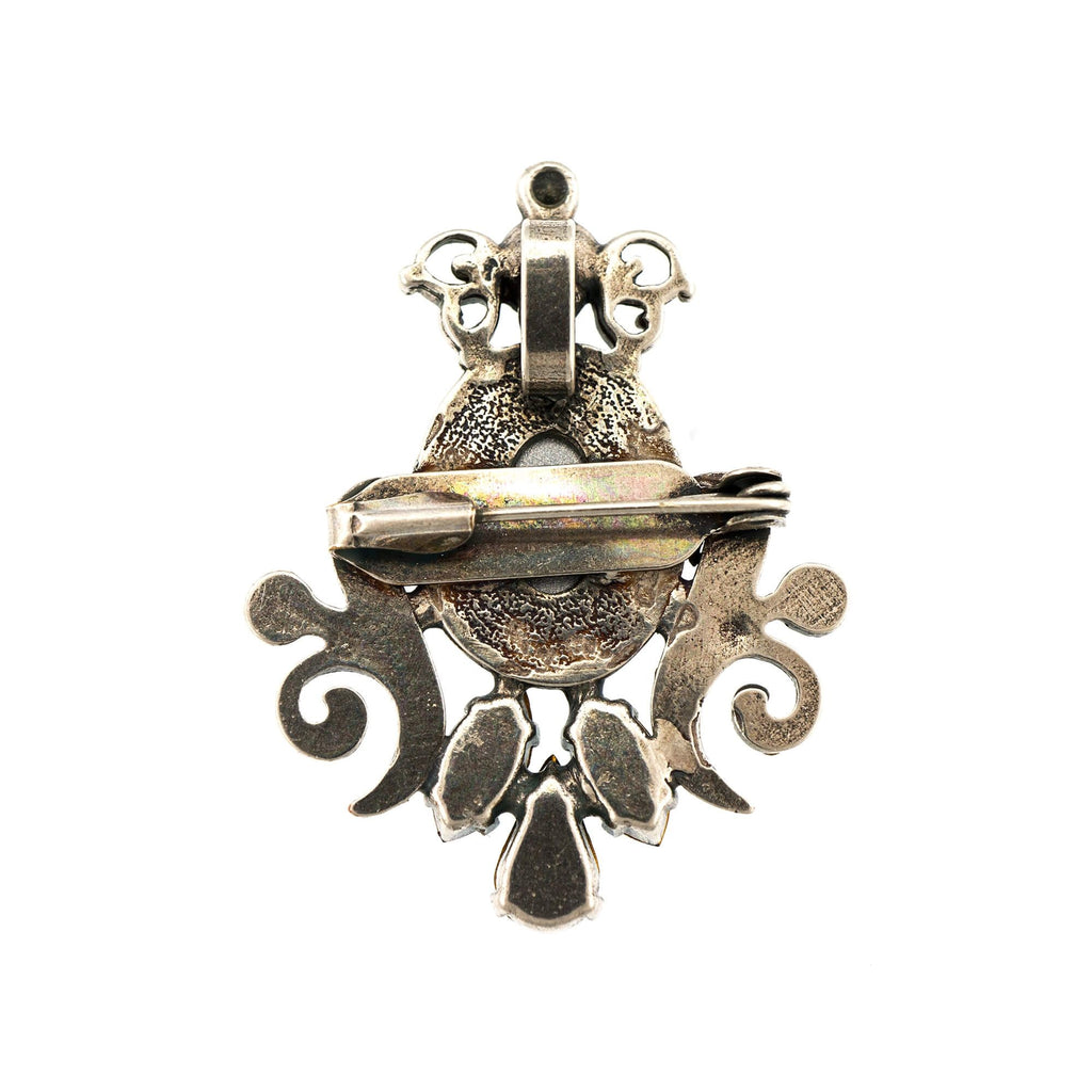 Nightfall Collection Silver Plated Brooch-2023/5-1114SP