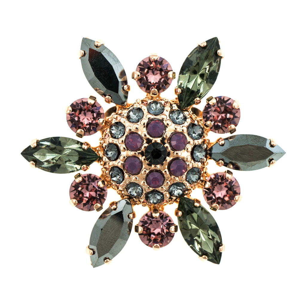 Mariana Rose Gold Plated Brooch | Roxanne's Jewellery | 1208RG
