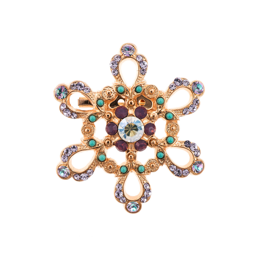 Mariana Rose Gold Plated Brooch | Roxanne's Jewellery | 1107RG
