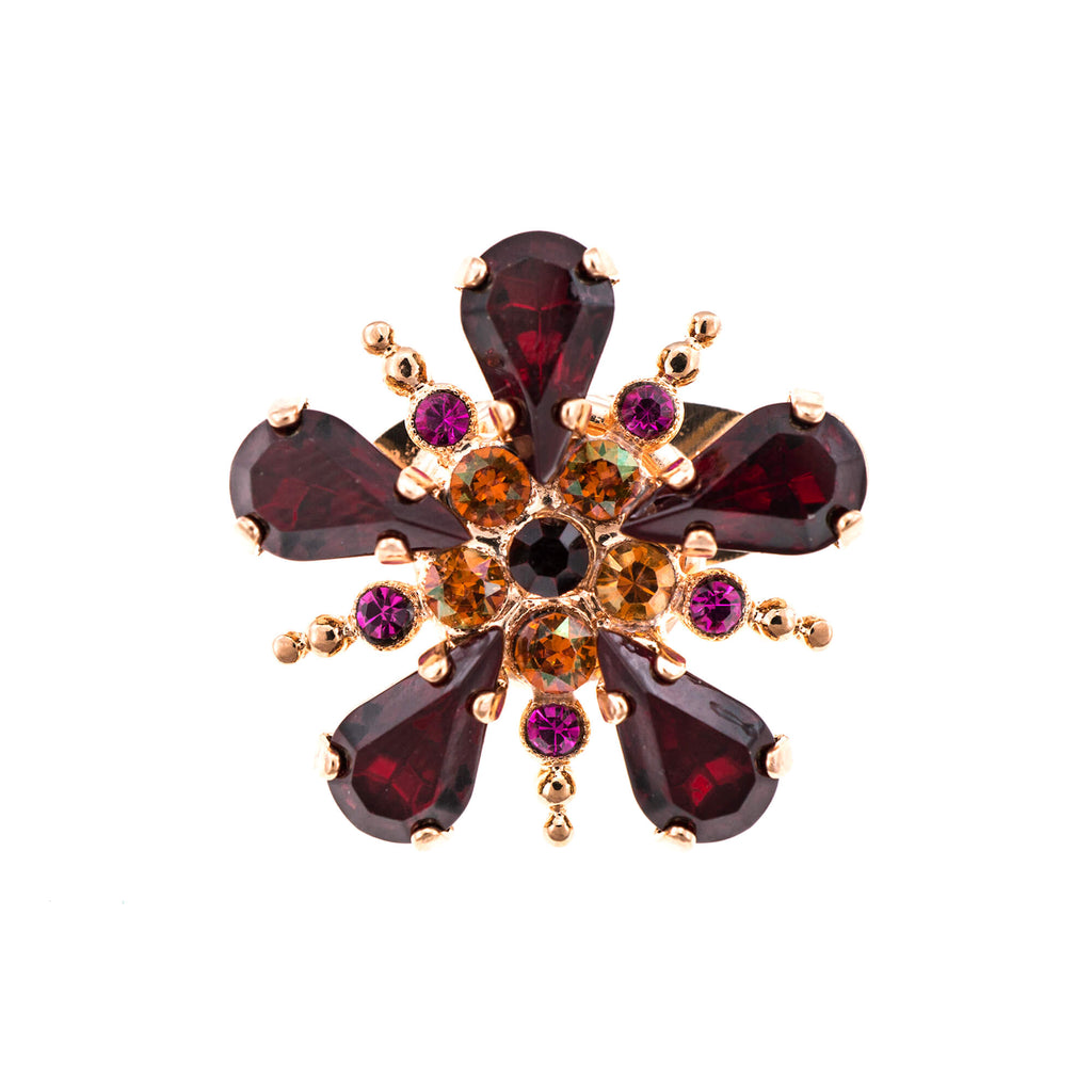 Mariana Rose Gold Plated Brooch | Roxanne's Jewellery | 3411RG