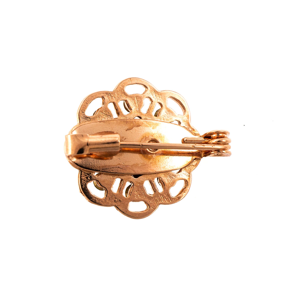 Lemon Emigrant Collection Rose Gold Plated Brooch-2501-1121RG