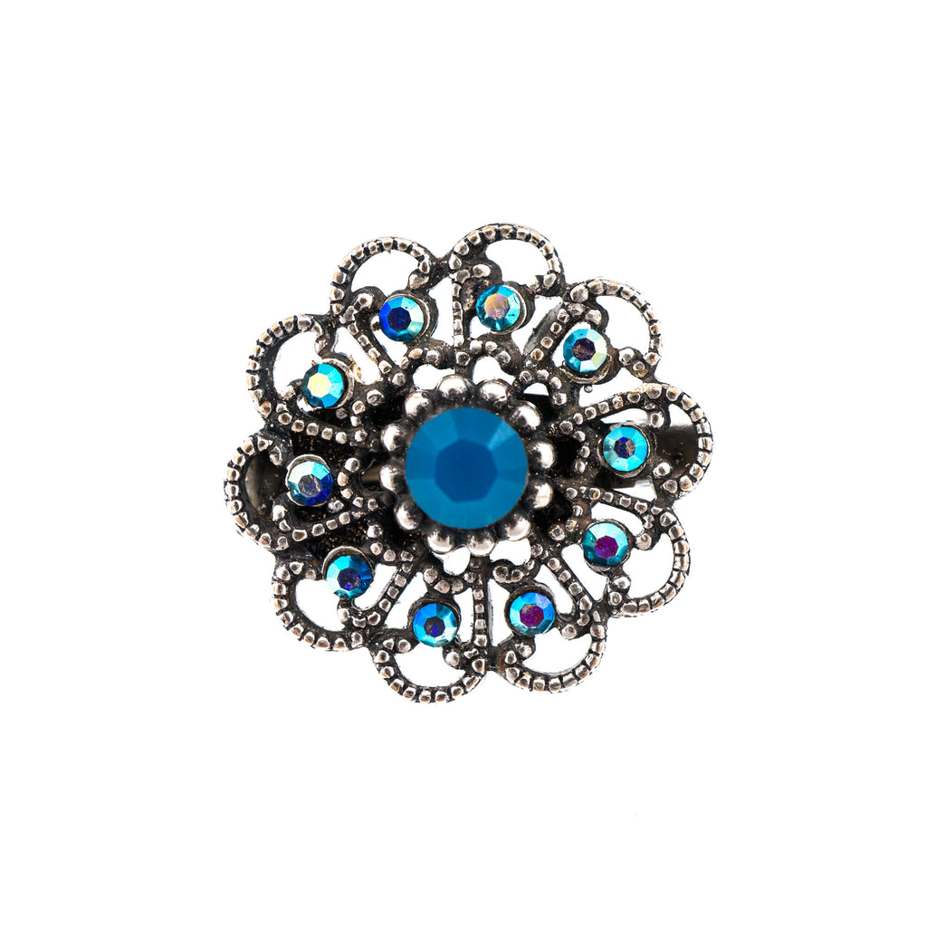 Mariana Silver Plated Brooch | Roxanne's Jewellery | 1204SP