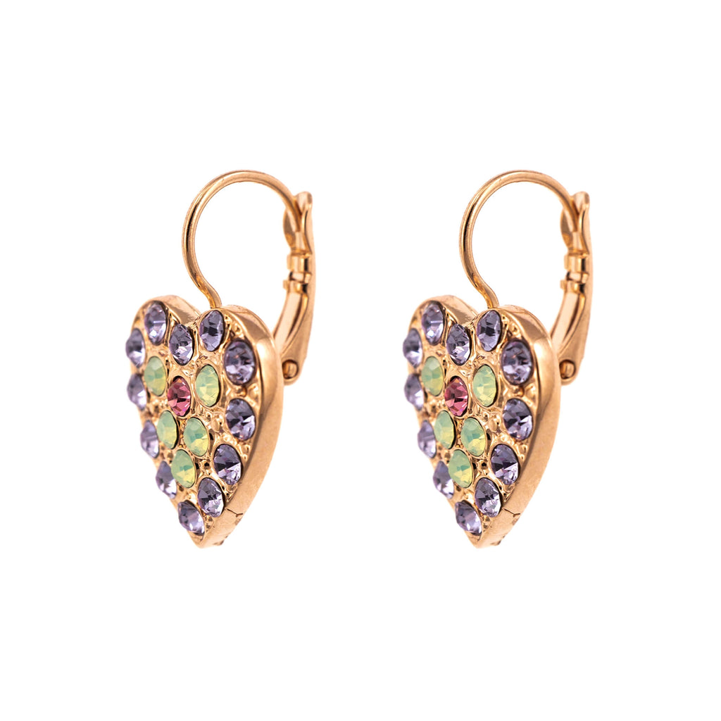 Lavender Collection Rose Gold Plated Earrings-1008/5-1910RG6