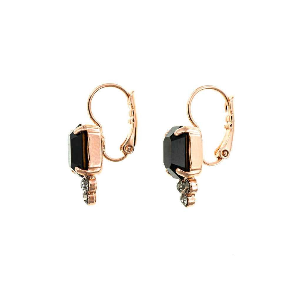 Check Mate Collection Rose Gold Plated Earrings-1009-280215RG6
