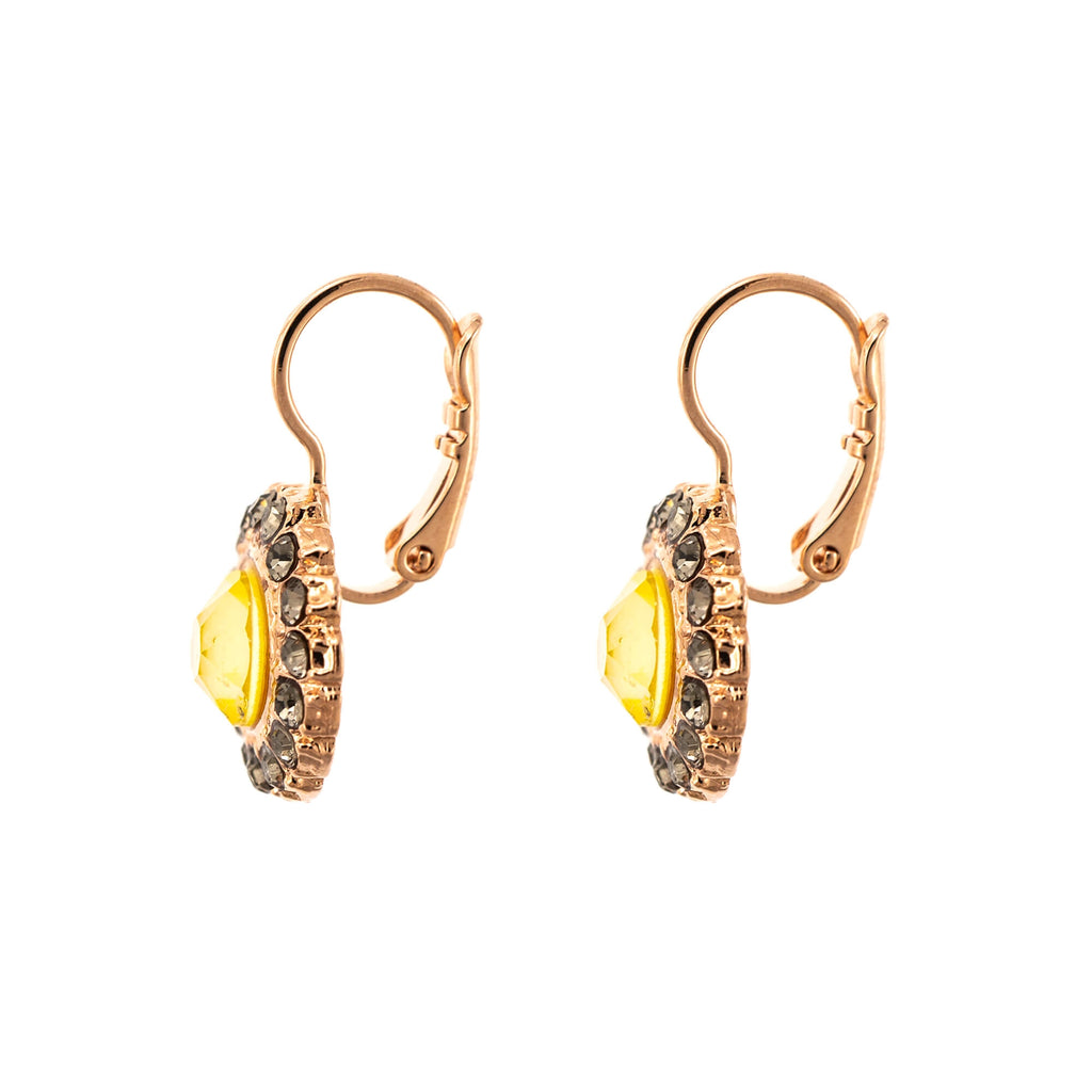 Lemon Emigrant  Collection Rose Gold Plated Earrings-1014/3-1121RG6