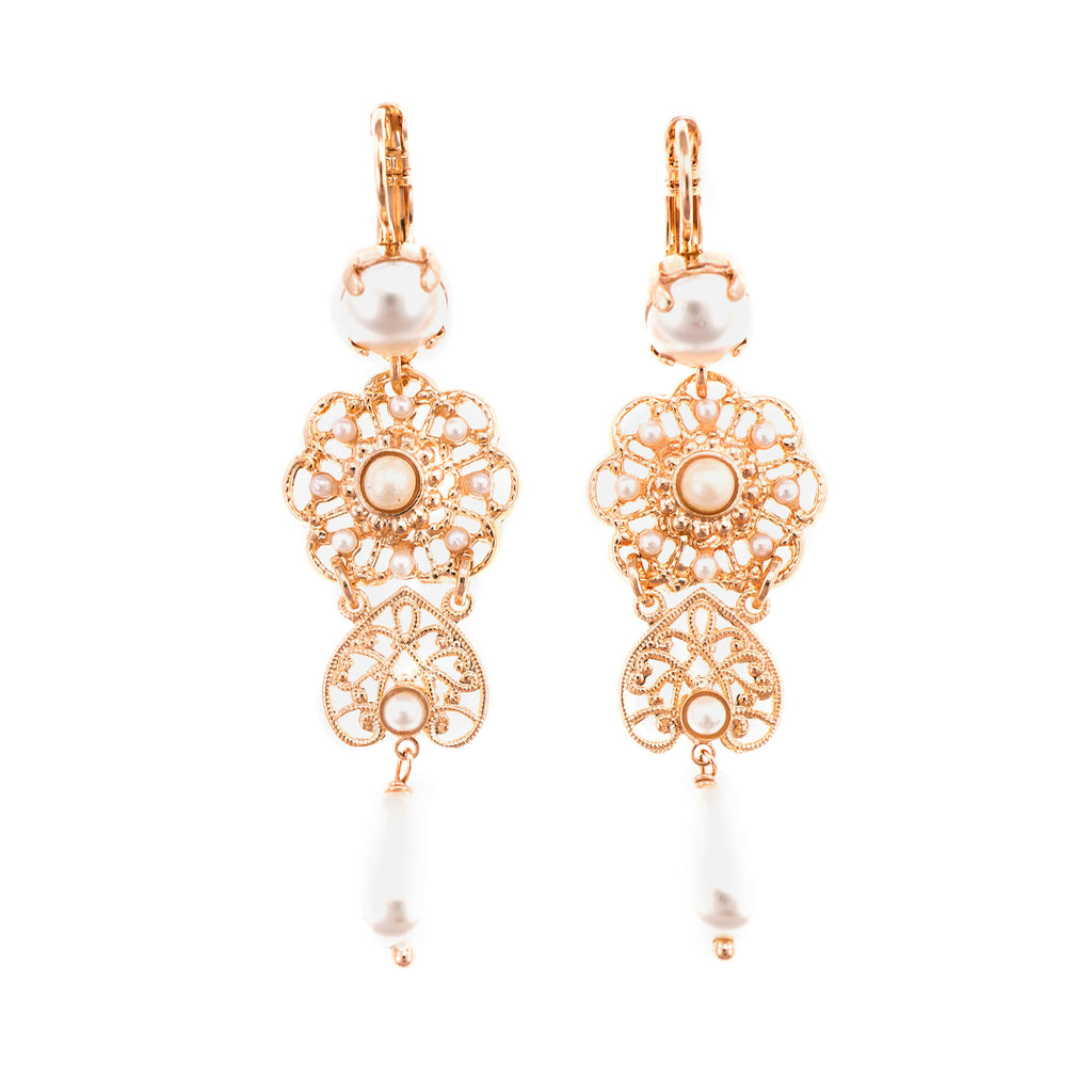 Mariana Rose Gold Plated Earrings | Roxanne's Jewellery | M48RG6