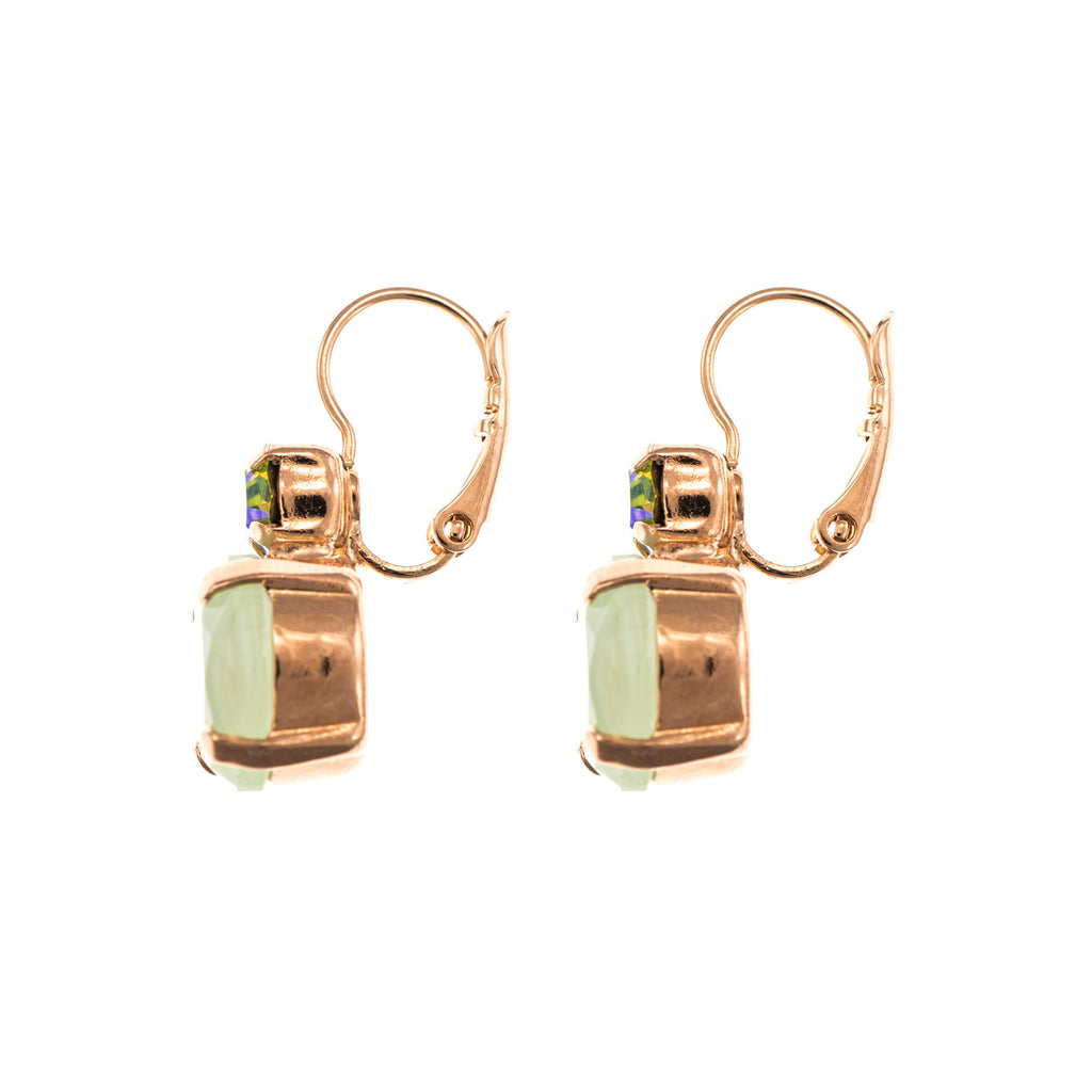Forget-me-not Collection Rose Gold Plated Earrings-1037A-1329RG6