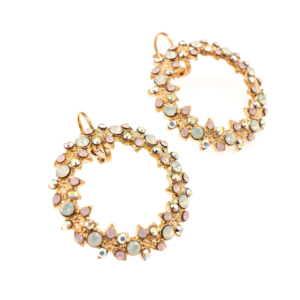 Aura  Collection Rose Gold Plated Earrings-1040/7-1112RG6