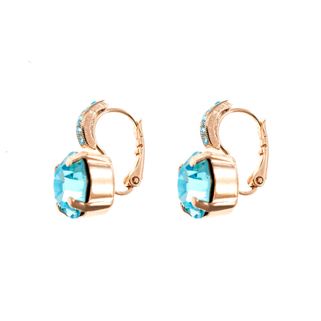 Lucky Birthstone-The Color of Your Life Collection Rose Gold Plated Earrings-1056-202202RG6