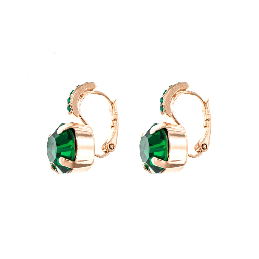 Lucky Birthstone-The Color of Your Life Collection Rose Gold Plated Earrings-1056-205205RG6
