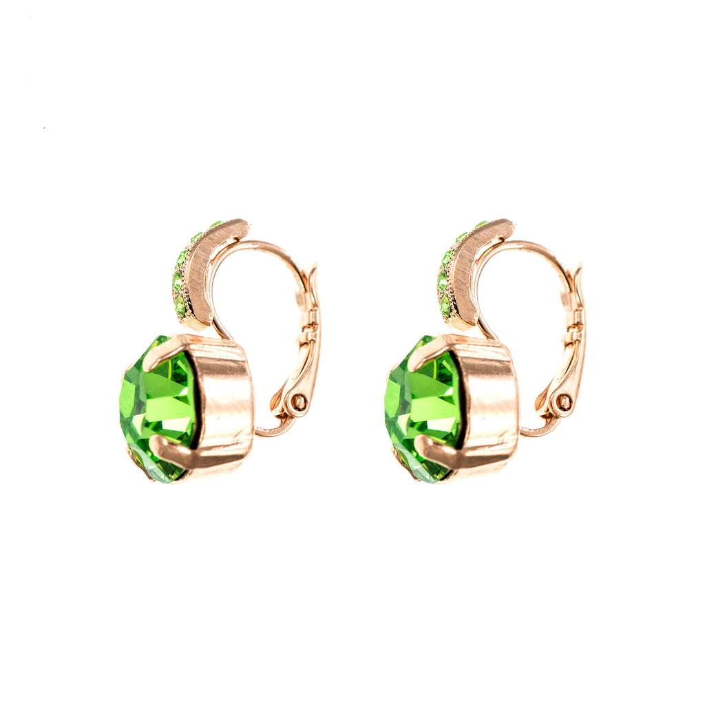 Lucky Birthstone-The Color of Your Life Collection Rose Gold Plated Earrings-1056-214214RG6