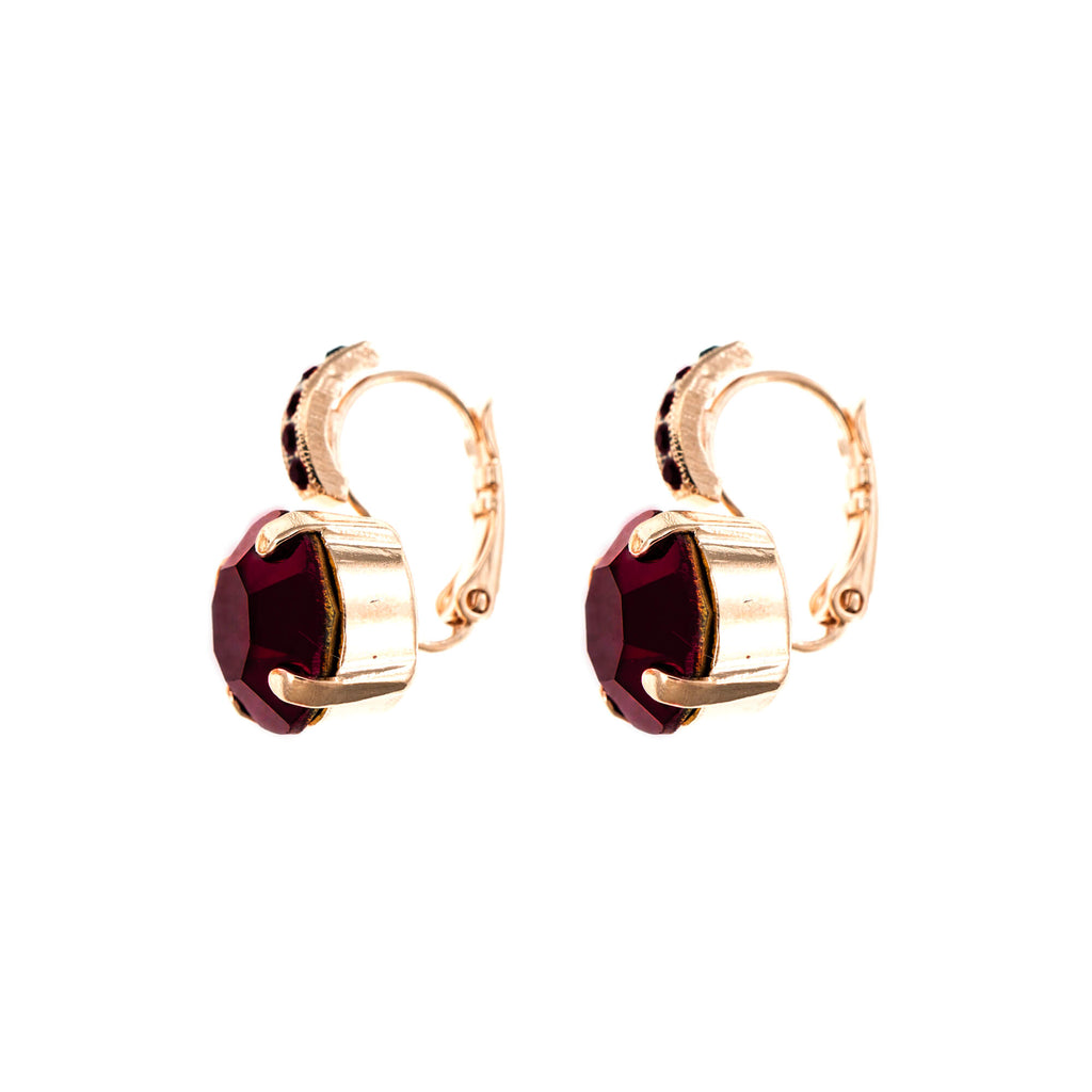 Lucky Birthstone-The Color of Your Life Collection Rose Gold Plated Earrings-1056-241241RG6