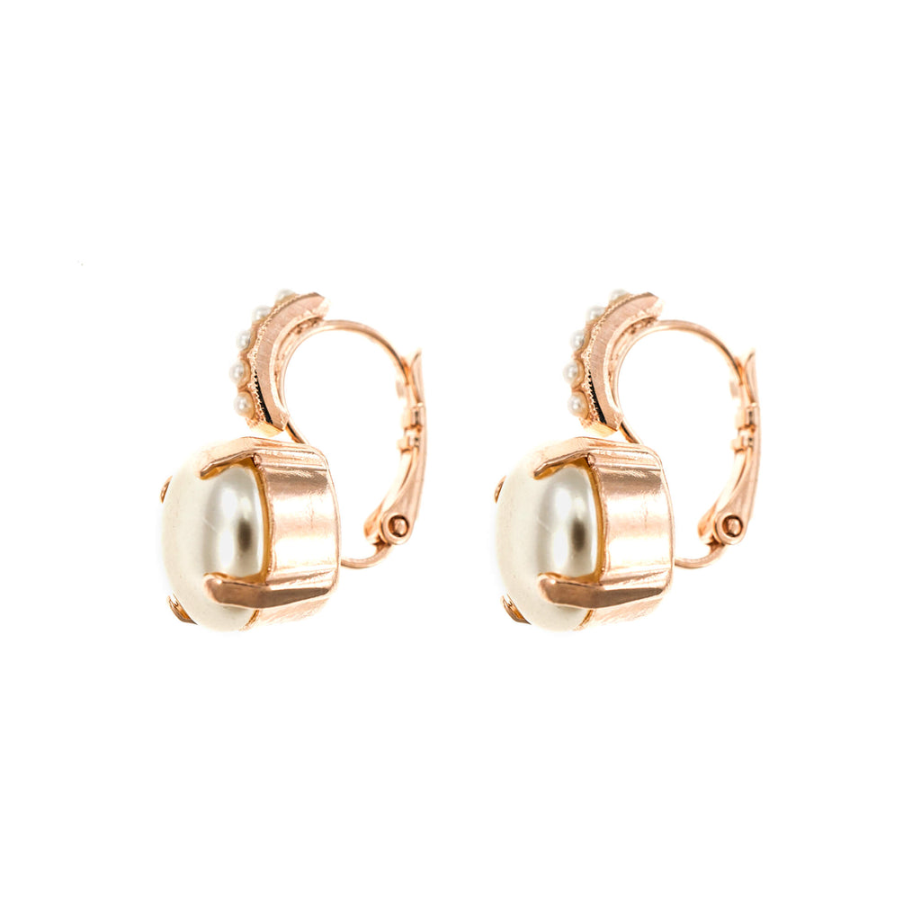 Lucky Birthstone-The Color of Your Life Collection Rose Gold Plated Earrings-1056-M48M48RG6