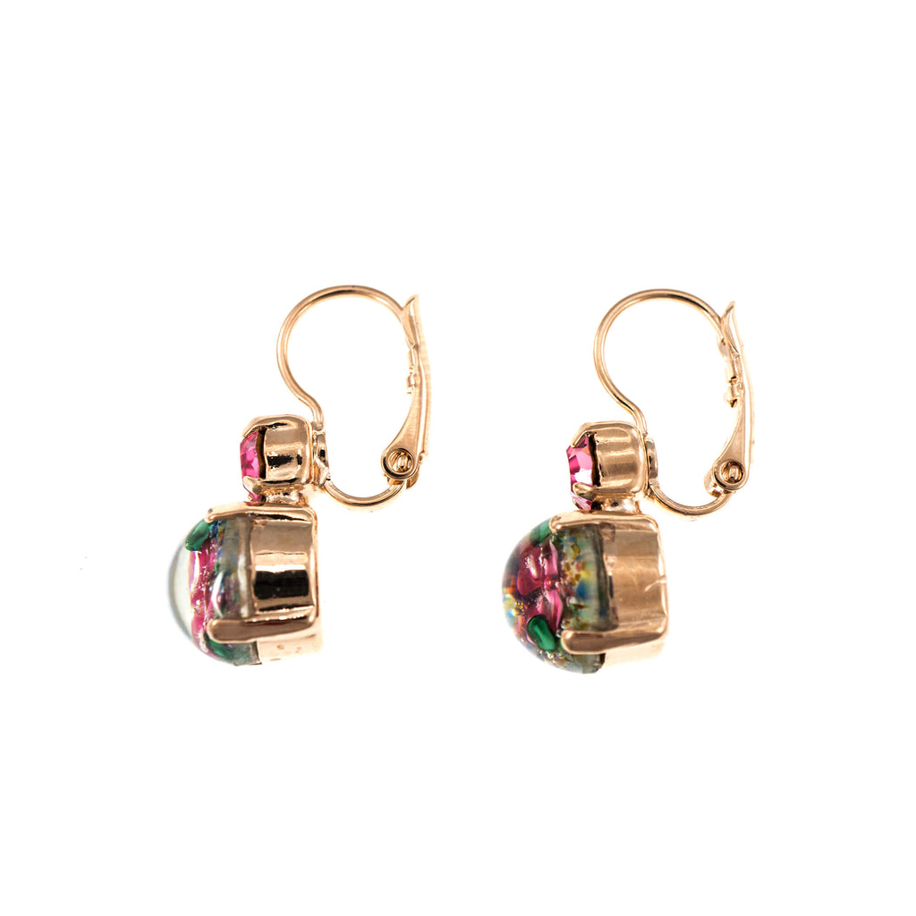 Pina Colada Collection Rose Gold Plated Earrings-1062-0021RG6